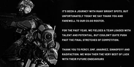 Team Secret отказалась от своей команды по CS:GO