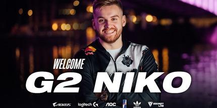 Официально: NiKo перешёл из FaZe Clan в команду G2 Esports по CS:GO