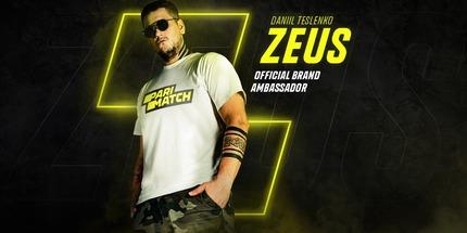 Даниил Zeus Тесленко стал бренд-амбассадором Parimatch