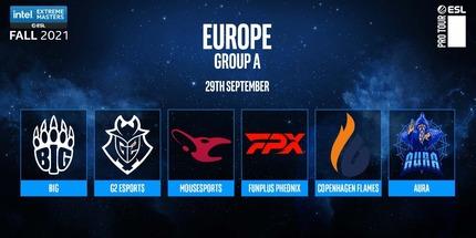 Фото: жеребьёвка группового этапа IEM Fall: Europe по CS:GO