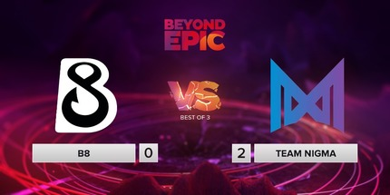 Nigma справилась с B8 Esports в матче BEYOND EPIC по Dota 2