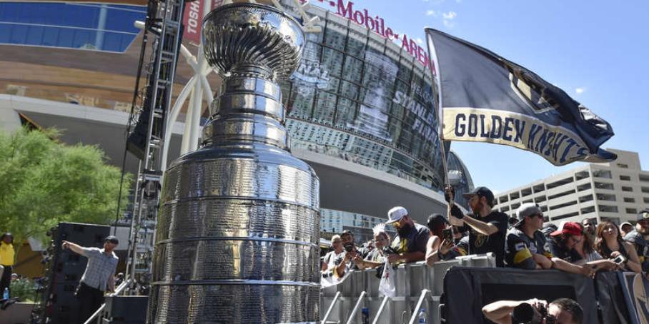 Кубок Стэнли перед матчем в Лас-Вегасе