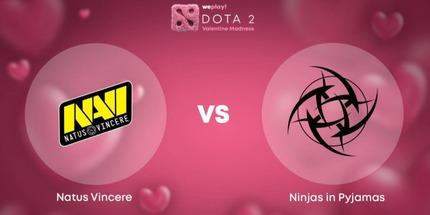 Ninjas in Pyjamas сыграет в гранд-финале WePlay! Valentine Madness по Dota 2