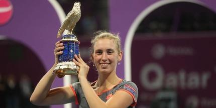 Элизе Мертенс выиграла турнир в Дохе