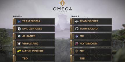 Жеребьёвка группового этапа OMEGA League по Dota 2
