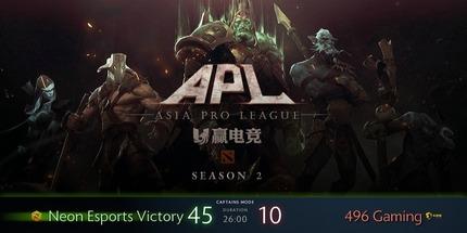 Neon Esports выиграла Asia Pro League Season 2 по Dota 2