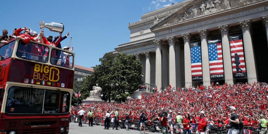 чемпионский парад в Вашингтоне