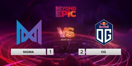 OG обыграла Nigma в первом туре онлайн-турнира BEYOND EPIC по Dota 2