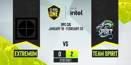 Team Spirit переиграла EXTREMUM в первом матче DPC-турнира для СНГ