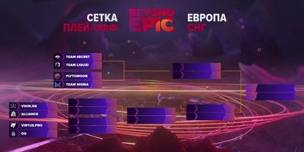 Сетка плей-офф BEYOND EPIC: Europe/CIS по Dota 2
