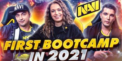 Видео: первый буткемп игроков Natus Vincere по Доте в 2021 году