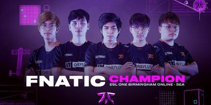 Fnatic выиграла ESL One Birmingham по Dota 2 для Юго-Восточной Азии