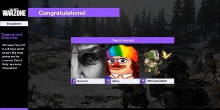 Российская команда Recrent выиграла Twitch Rivals по Call of Duty: Warzone