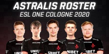 Astralis назвали состав, которым сыграют на ESL One Cologne по CS:GO