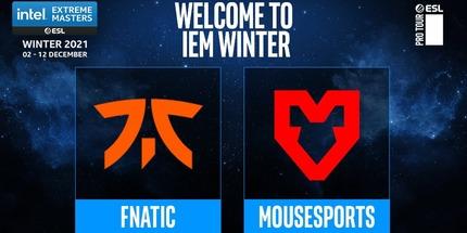 Fnatic и mousesports прошли на IEM Winter 2021 по CS:GO