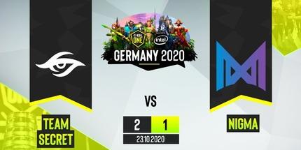 Team Secret выбила Nigma в лузера на ESL One Germany 2020 по Dota 2