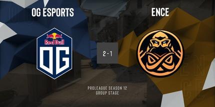 ENCE уступила OG в рамках ESL Pro League S12 по CS:GO для Европы