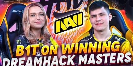 Видео: интервью B1T о победе NAVI на DreamHack Masters Spring 2021