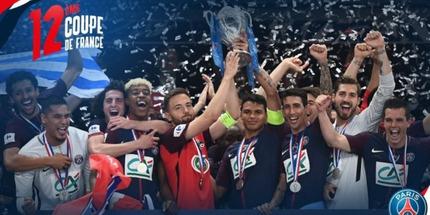 Игроки ПСЖ позволили поднять Кубок Франции капитану
