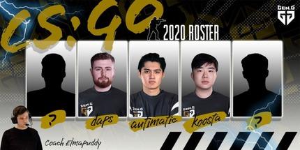 Gen.G открыла подразделение по CS:GO и подписала трёх игроков Cloud9