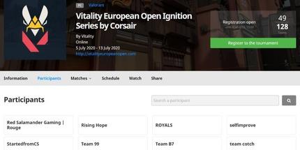 Клуб Vitality проведёт чемпионат The Vitality European Open по Valorant