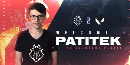 Patitek стал вторым игроком новой команды G2 Esports по Valorant