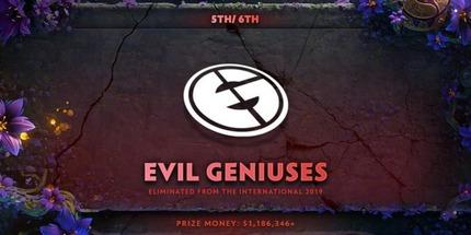RNG, Infamous и Evil Geniuses закончили выступления на чемпионате мира по Dota 2