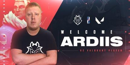Официально: ardiis вошёл в состав G2 Esports по Valorant