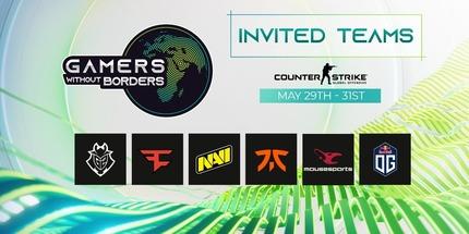 NAVI, Fnatic, OG и FaZe Clan сыграют в благотворительном турнире Gamers Without Borders по CS:GO