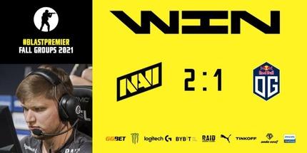 NAVI победила OG в первой игре группы C на BLAST Premier: Fall Groups