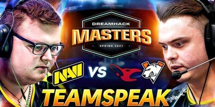 Видео: тимспик NAVI против Virtus.pro на DreamHack Masters Spring 2021