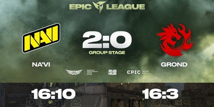 NAVI и Gambit выиграли свои первые матчи на EPIC CIS League Spring 2021