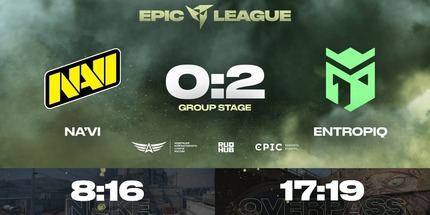 Natus Vincere проиграла Entropiq во 2-м раунде EPIC CIS League Spring 2021